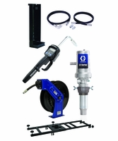 """GRACO 24K841 Manual Rigid 5:1 Oil Tote Mount Package with SD 1/2"""" x 50' Reel"""