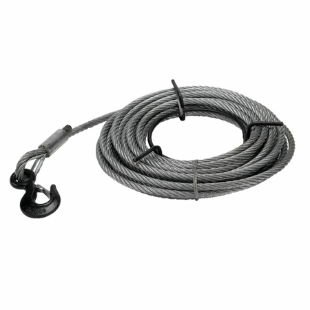 JET 286529 3-Ton 5/8 Wire Rope 66 Feet