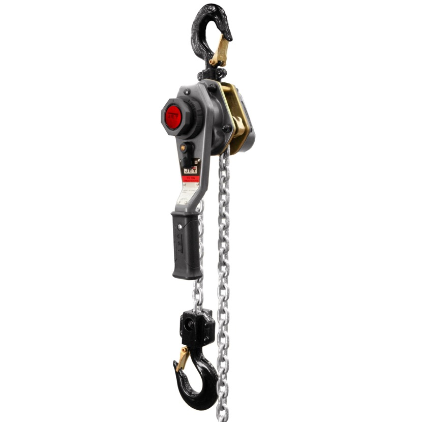 JET 376300 JLH Series 1-1/2 Ton Lever Hoist, 5' Lift with Overload  Protection