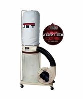 JET 708658K DC-1100VX-5M Dust Collector, 1.5HP 1PH 115/230V, 5-Micron Bag Filter