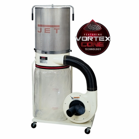 JET 710704K DC-1200VX-CK3 Dust Collector 2HP 3PH 230/460V, 2-Micron Canister Kit