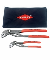 "KNIPEX 003120V01US-KIT Cobra 7-1/4"" & 10"" Water Pump Pliers Kit w/ Keeper Pouch"