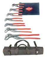 KNIPEX 8701000-X Ultimate Cobra Pliers Set w/ Pouch & Tool Roll