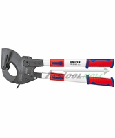 "KNIPEX 9532060 25"" Ratchet Action Cable Cutter w/ Telescoping Handles"