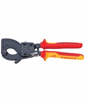 "KNIPEX 9536250 10"" Ratchet Action Insulated Cable Cutters 1000v"