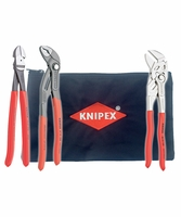 "KNIPEX 9K0080117US-KIT 3 Piece 10"" Pliers Set with Keeper Pouch"