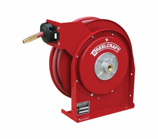 Reelcraft 4615-OLP 3/8 x 15' Spring Retractable Hose Reel, 300 PSI w/ Hose