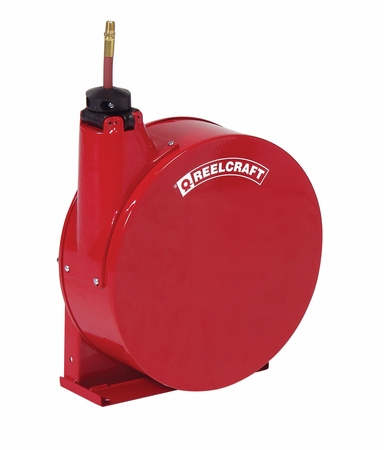 Reelcraft 5425-ELP 1/4 x 25' Enclosed Hose Reel, 300 PSI w/ Hose