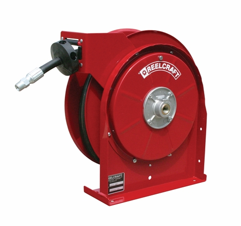 Reelcraft 5430-OMP 1/4 x 30' Spring Retractable Hose Reel, 2750 PSI w/ Hose