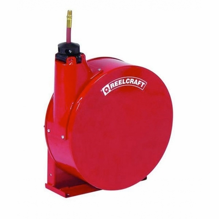 Reelcraft 5435-ELP 1/4 x 35' Enclosed Reel, 300 psi, Air/Water with Hose