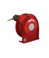 "Reelcraft 5450-OLP-HTH 1/4"" x 50ft High Operating Temperature Hose Reel w/ Hose"