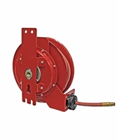 "Reelcraft 5450-OLPSML 1/4"" x 50 ft Side Mount Air/Water Hose Reel (inlet left)"