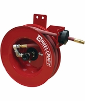 "Reelcraft 5450-OLPSMR 1/4"" x 50 ft Side Mount Air/Water Hose Reel (inlet right)"