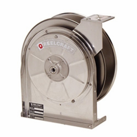 Reelcraft 5600-ELS 3/8 x 35' Stainless Enclosed Hose Reel, 300 PSI No Hose