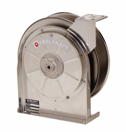 Reelcraft 5600-OMS-S 3/8 x 30' Stainless Hose Reel, 3000 PSI No Hose
