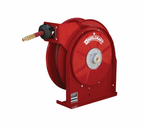 Reelcraft 5630-OLP 3/8 x 30' Spring Retractable Hose Reel, 300 PSI w/ Hose