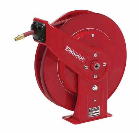 Reelcraft 7830-OLP 1/2 x 30' Spring Retractable Hose Reel, 300 PSI w/ Hose