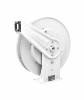 "Reelcraft 7600-OLP-17WH White Reel 3/8"" x 50', 300psi, Air / Water without Hose"