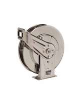 "Reelcraft 7600-OMS-S55 3/8"" x 66' Spring Retractable Stainless Hose Reel, 3000 PSI No Hose"