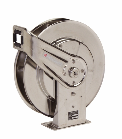 Reelcraft 7600-OMS55 3/8 x 66' Stainless Steel Reel 3000psi - No Hose