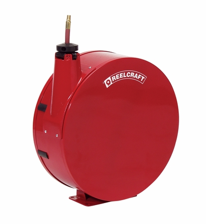 Reelcraft 7830-ELP 1/2 x 30' Enclosed Spring Retractable Hose Reel, 300 PSI w/ Hose