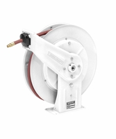 "Reelcraft 7650-OLP-17WH White Reel 3/8"" x 50', 300psi, Air / Water with Hose"