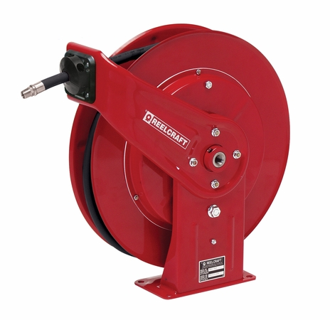 Reelcraft 7440-OHP 1/4 x 40' Spring Retractable Hose Reel, 5000 PSI w/ Hose