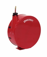 "Reelcraft 7840-ELP 1/2"" x 40' Enclosed Spring Retractable Hose Reel, 300 PSI w/ Hose"