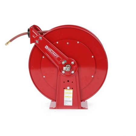 Reelcraft 82100-OLP 1/2 x 100ft, 300 psi, Air / Water Reel with Hose