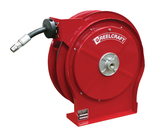 Reelcraft B5835-OLP 1/2 x 35ft, 300 psi, Spring Retractable Air/Water with Hose