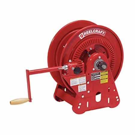 Reelcraft BA34128-M 1/2 x 250' Twin Hydraulic Bevel Crank Hose Reel, 3000 PSI No Hose
