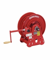 "Reelcraft BA34128-M 1/2"" x 250' Twin Hydraulic Bevel Crank Hose Reel, 3000 PSI No Hose"
