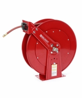 "Reelcraft D84050-OLP-HTH 1"" x 50ft High Operating Temperature Hose Reel w/ Hose"
