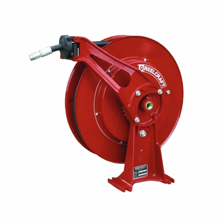 Reelcraft D8440-OHP 1/4 x 40' Ultimate Duty Spring Retractable Reel, 5000 PSI w/ Hose