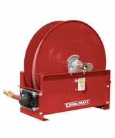 "Reelcraft D9275-OLP 1/2"" x 75' Ultimate Duty Spring Retractable Reel, 300 PSI w/ Hose"