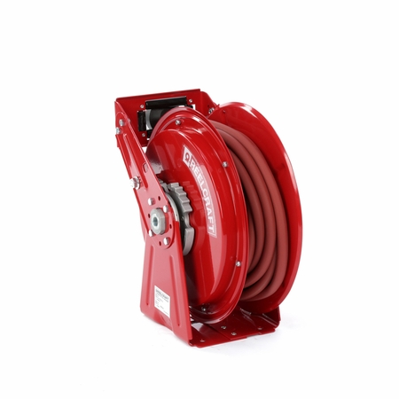 Reelcraft DP7850-OLP HD Spring Retractable 1/2 x 50ft, 300 psi, Air With Hose