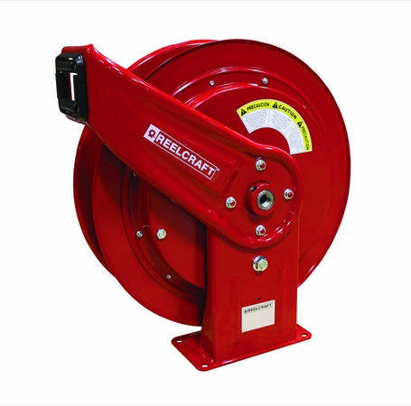 Reelcraft HD76000-OHP 3/8 x 75' High Pressure Grease Hose Reel 5000psi