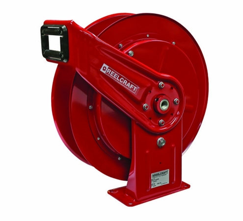 Reelcraft HD76005-OHP 3/8 x 75' High Pressure Grease Hose Reel 4800psi