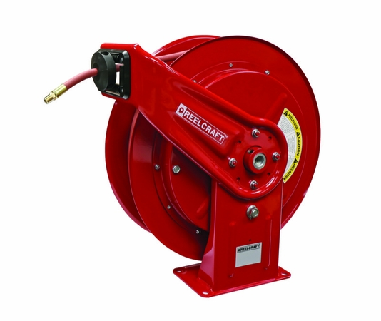 Reelcraft HD76050-OLP 3/8 x 50' HD Spring Retract Air/Water Reel 300psi w/ hose