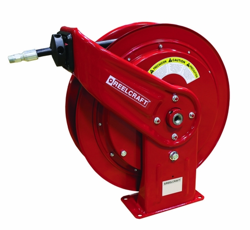Reelcraft HD76075-OMP 3/8 x 75' Medium Pressure Oil Hose Reel 2600psi