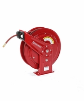 Reelcraft HD76100-OLP 3/8 x 100' HD Spring Retract Air/Water Reel 300psi w/ hose