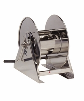 """Reelcraft HS18000-MS 1/2"""" x 200' Hand Crank Stainless Hose Reel, 3000 PSI No Hose"""