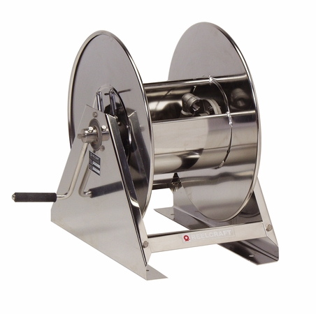 Reelcraft HS29000-MS 3/4 x 125' Hand Crank Stainless Hose Reel, 3000 PSI No Hose