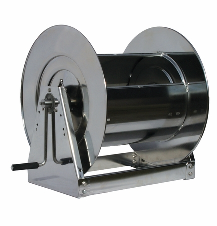 Reelcraft HS37000-LS 1 x 100' Hand Crank Stainless Hose Reel, 500 PSI No Hose