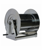 """Reelcraft HS37000-LS 1"""" x 100' Hand Crank Stainless Hose Reel, 500 PSI No Hose"""