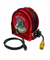 Reelcraft L-3030-123-3 12/3 x 30ft Compact Power Cord Reel, 15A Single Receptacle