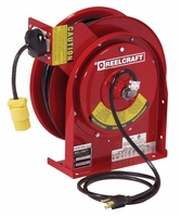 Reelcraft L-5550-123-3 12 AWG / 3 Cond x 50ft, 15 AMP, Single Outlet, With Cord