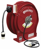 Reelcraft L-5550-123-3B Power Cord Reel 50 ft 12/3 20 amp Twist-Lock