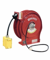 Reelcraft L-5550-123-7 12/3 Cond x 50' 15 AMP, Duplex GFCI Outlet Cord