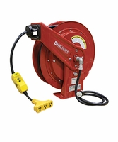 Reelcraft L-70075-123-9G Triple Tap w/GFCI Cord Reel 12 AWG 75' 15 AMPS